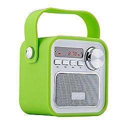 Kaufen Bluetooth Lautsprecher mit Radio, Tragbar FM Radio Wireless Küchenradio - 5W 2200mAh 3.0 Bluetooth Drahtlose Lautsprecher mit Starken Bass & USB AUX Eingang,TF Steckplatz von VOOKI