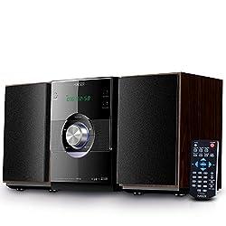 Kaufen HAISER HSR 116 | 20 Watt RMS mit • CD-Player • Bluetooth • USB • Boxen • FM Radio | Stereoanlage Kompaktanlage Musikanlage HiFi Anlagen Mini Anlage Microanlage Mini Stereoanlage Soundanlage