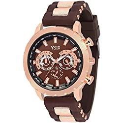 Youth Club CSO-01BRWN New Browny Big Dial Chronograph Pattern for Boys