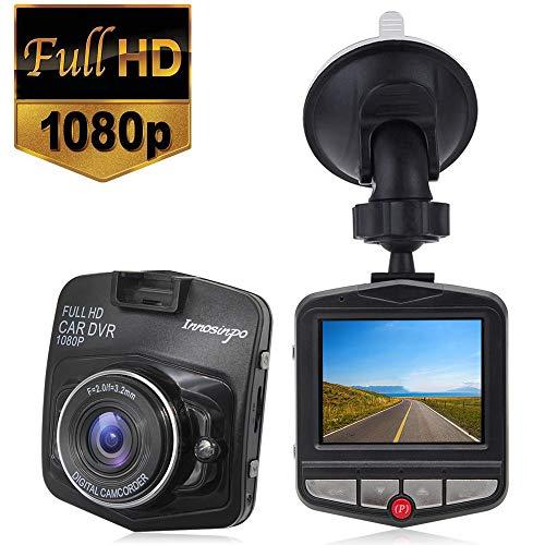 Dash Cam Telecamera per Auto 1080P Obiettivo Grandangolare di 170°Visione Notturna Rilevamento del Movimento Integrato con Sensore G Monitor di Parcheggio, Registrazione Ciclica