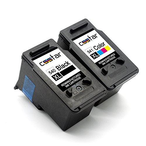 CSSTAR Rigenerate Cartucce d'inchiostro Compatibili per Canon 540XL 541XL PG-540XL CL-541XL per...