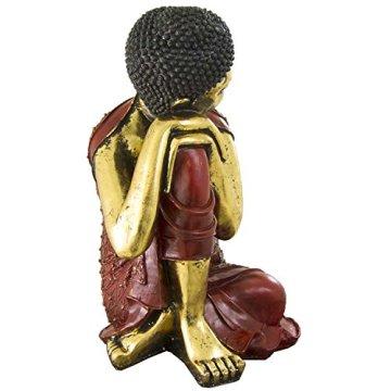 Figura buda de resina en color rojo y dorado | 60 cm de alto | Portes gratis 11