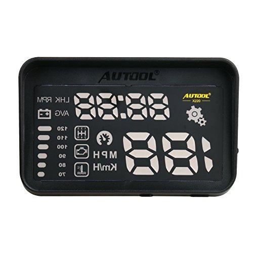 Autool 12V Digital auto OBD HUD Head Up display km/h mph tachimetro + allarme velocità eccessiva...