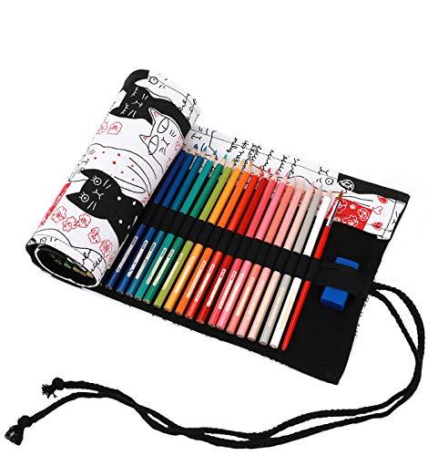 Amoyie Sacchetto della Matita Tela Rotolo Astuccio per 36 matite Colorate - Tela astucci (No Inclusa...
