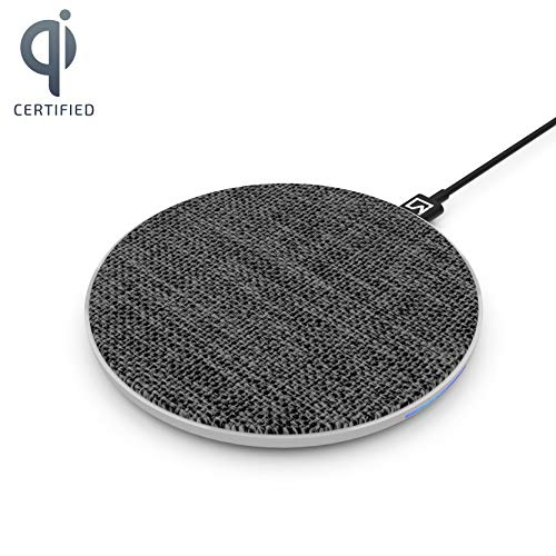iVoltaa Airbase1 10W Wireless Charging Pad for Apple and Android (Fabric Top-Black)