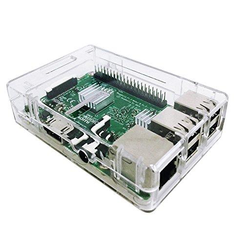 51ecyL1 hhL - Zacro 3-EN-1 Kit - Kit para Raspberry Pi 3 Modelo B. Caja, Cargador y disipador de Calor Incluido
