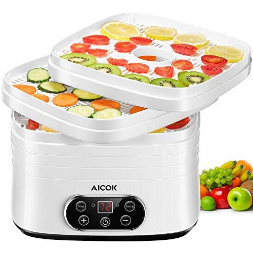 AICOK Essiccatore Elettrico 5 RipianiEssiccatore Alimentare Con Display LCD, 240 W Essiccatore...