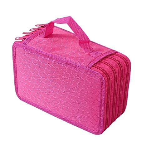 Pencil Case, Large Capacity Pencil Case, Multi-layer School Stationery Pencil Eraser Ruler Bag for...