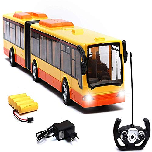 Wembley Toys Super Speed Rechargeable Remote Controlled RC Series Bus with Battery and Charger ( Bus- Yellow and Red)