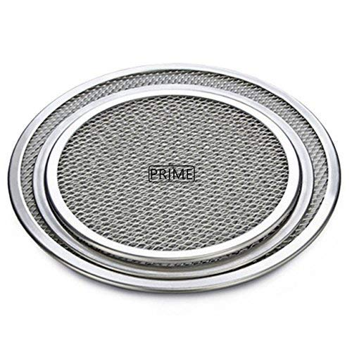 Prime Bakers and Moulders Multi Size Aluminum Pizza Tray Screen Mesh Baking Pan Stone Pancake Net Pastry Bakeware Baking Tools