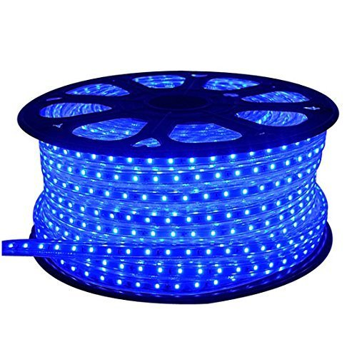 SUBMART Waterproof LED Strip Rope Light with Adapter for Indoor and Outdoor Decoration (Blue, 10 mtr)