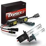 TXVSO Neueste Mini 12 V 55 W Xenon HID Conversion Kit Scheinwerfer für Auto Fahrzeug Ersatz Halogenlampe Set, H7 / 6000K Diamant Weiß