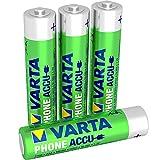 Varta Phone Accu Micro Ni-Mh Akku (AAA 4-er Pack, 800 mAh) geeignet für schnurlose Telefone, wiederaufladbar ohne Memory-Effekt - sofort einsatzbereit
