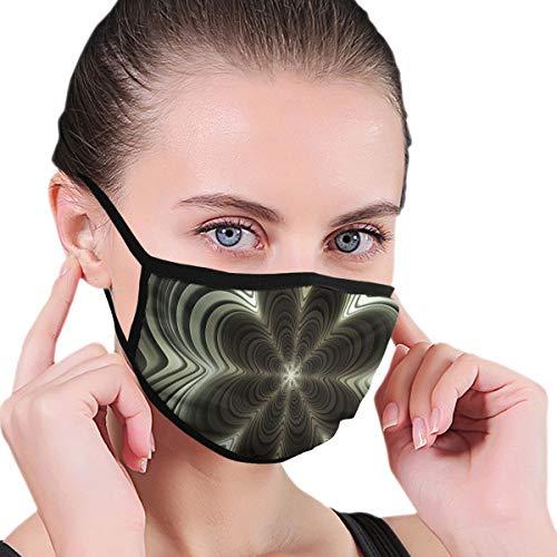 Frattal Silver Waves Texture Geometric Face Bouth Mask Maschere Filtro di Sicurezza Maschere per Uomini Donne Sport All'Aperto Personalizzato
