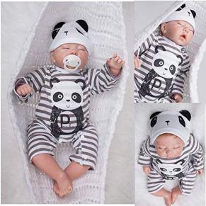 AIBAOLIAN 20 Pulgada 50 cm Reborn Bebé Reborn Cuerpo Completo De Silicona Hecho A Mano Regalo Personalizado Diseño Niño Niño Dormido
