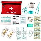 Erste-Hilfe-Kit?Verbandkasten?, 60 Stück Mini Small First Aid Kit, Erste-Hilfe-Kit enthält Notfall-Folie Decke, CPR Gesichtsmaske für Haus, Fahrzeug, Reise, Büro, Arbeitsplatz, Kinderbetreuung, Wandern, Survival & Outdoor