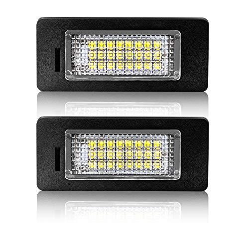 Safego Luci Targa a LED per Auto Lampada Targa 2835 SMD 6000K Xeno Bianco per A-u-d-i...