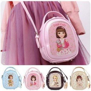 FunBlast Korean Style Little Lady Shoulder bagpack , Handbag, Purse Bag, Keys Pouch, Gifts Makeup Bag Backpack Hand Carry Purse Bag for Girls and Women Korean - Pack of 1 Pcs (Random Colour Dispatch) 10
