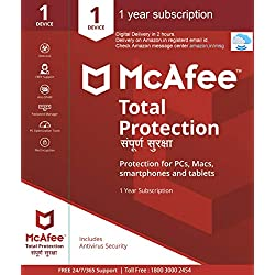 McAfee Total Protection- 1 User, 1 Year (Email Delivery in 2 hours- No CD)