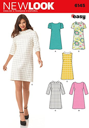 Simplicity Creative Patterns New Look 6145 Misses' Dress, A (8-10-12-14-16-18)