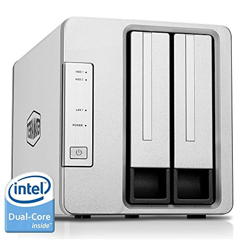 TerraMaster F2-220 NAS Drive 2-Bay Intel Dual Core 2.41GHz 2GB RAM PLEX DLNA Media Server Personal...