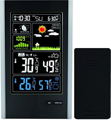 Think Gizmos La Stazione Meteo Wireless con sensore Interno/Esterno e USB ricarica-TG646 Stazione...
