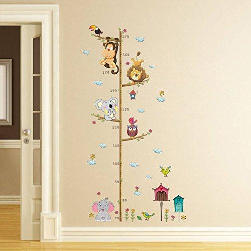 ElecMotive Metri da parete per bambini rimovibile misurare adesivi da parete per cameretta bambini...