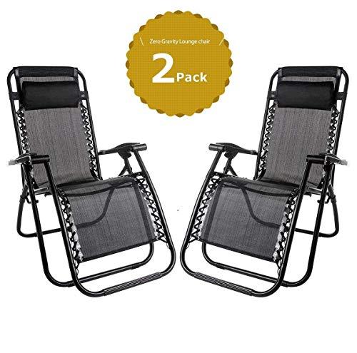Leisure zone Zero Gravity - Sedia pieghevole, sedia reclinabile, sedia reclinabile da campeggio, lounge, giardino, terrazza, sedia a sdraio in textilene