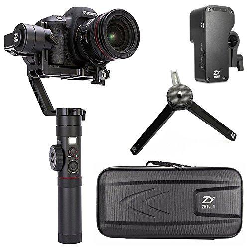 Zhiyun Crane 2 - Stabilizzatore cardanico palmare a 3 assi con display OLED e controllo Follow Focus per fotocamere DSLR e mirrorless fino a 3 kg, ad esempio