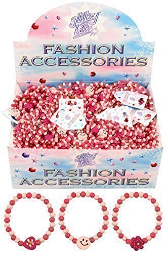 Henbrant 12 x Pretty Pink Girls Perle in Legno, Accessori per Buste Regalo Cuori