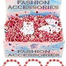 Henbrant 12x Pretty Pink Girls Perle in Legno, Accessori per Buste Regalo Cuori