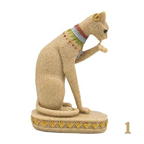 Estatua de gato egipcio en arenisca