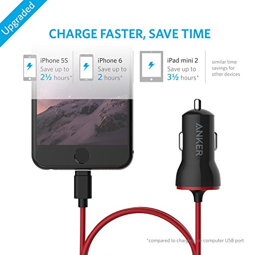 Anker PowerDrive Lightning Auto Nero, Rosso Caricabatterie per cellulari e PDA