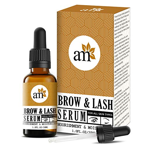 AromaMusk Brow & Lash Growth Serum For Thicker, Longer Eyebrows and Eyelashes, 30ml (With Castor Oil & 100% Natural Ingredients)