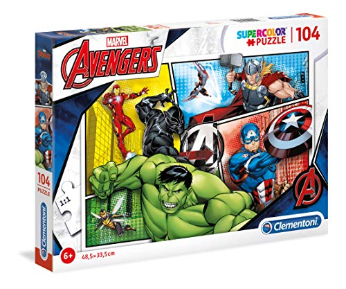 Clementoni Supercolor Puzzle-The Avengers-104 Pezzi, Multicolore, 27284