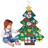 Fieltro Árbol de Navidad, Outgeek DIY Decoración del árbol de Navidad Decoración Colgante para Niños Regalo de Navidad con 30PCS Ornamento de Navidad