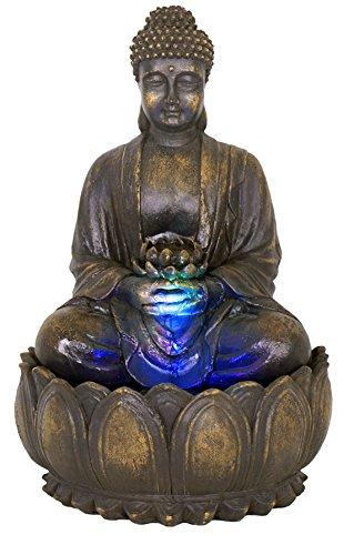 Ambiente Fuente de Jardín Buda en Meditación 3