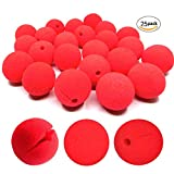 dancepandas Clown nose, 25 Pcs Red Foam Nose for Party Halloween Costume Supplies Red Nose Day Party