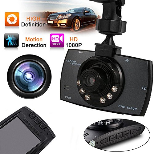 "Leoie Tachograph with HD 2.4"" TFT 1080P Car DVR Vehicle Camera Video Recorder Dash Cam Night Vision Camera"
