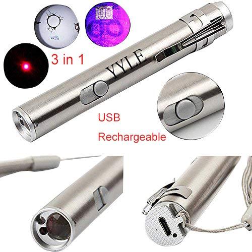 3 in1 500LM mini lampada a ricircolo LED USB in alluminio e lampada multifunzionale a torcia in...