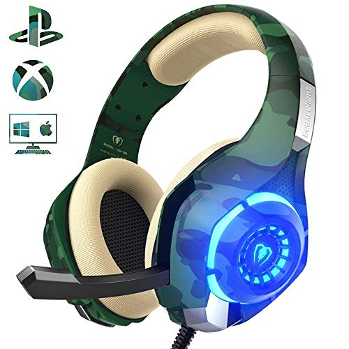 Auriculares Gaming para PS4 Xbox One Nintendo Switch, Beexcellent GM-100...