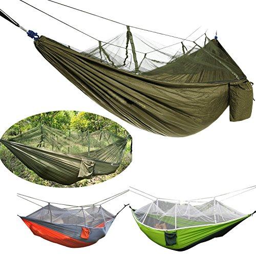 DHIDWWBBH Camping extérieur portatif moustiquaire en Nylon hamac Suspendu lit balançoire Dormir, Orange 23