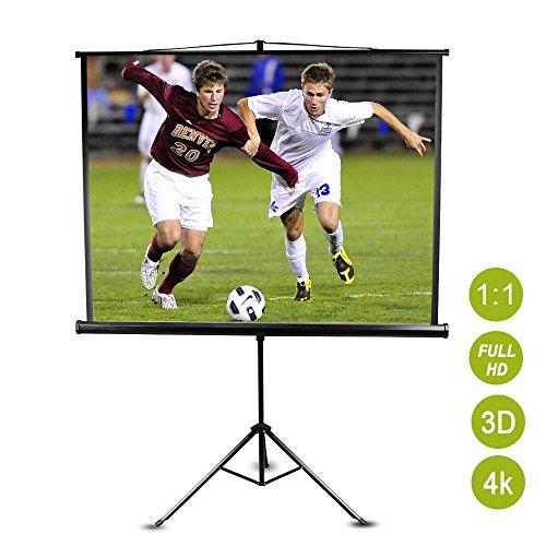 Yaheetech Beamer Leinwand Rolloleinwand Format 1:1 4:3 16:10 16:9  152 x 152 cm Projektor Heimkino HD Portabel LCD LED
