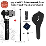 FeiyuTech G5 (V2 Version) 3 Axis Gimbal Handheld Stabilizer for GoPro HERO 7/6/5/4 for Yi Cam 4K for AEE and Action Cameras of Similar Size ,Tripod ,Extra battery and Extension are included