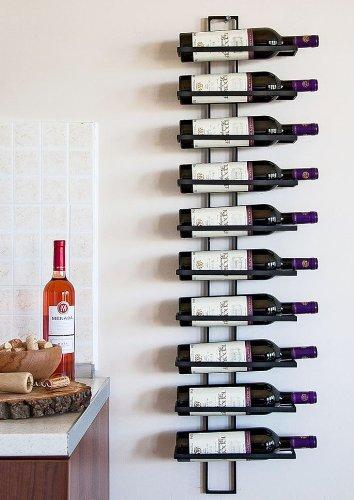 DanDiBo Scaffale vini Scaffale a parete Dies 116 cm in metallo per 10 bottiglie Supporto bottiglie...