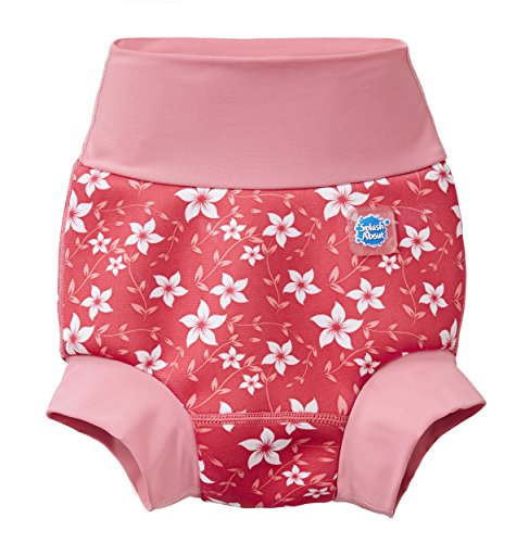 Splash About Baby Kids New Improved Happy Nappy, Pink Blossom, 3-6 Months