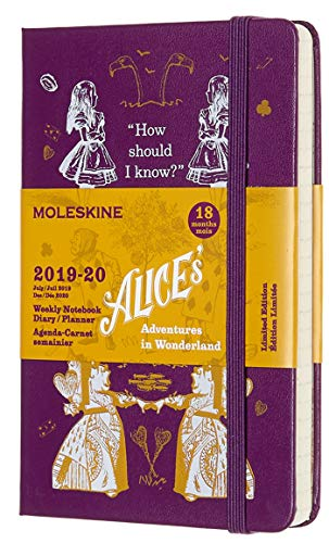 Moleskine Agenda Settimanale 18 Mesi Alice in Wonderland in Edizione Limitata, Diario Accademico...