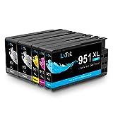 LxTek Kompatibel Tintenpatronen Ersatz für HP 950XL 951XL 950 951 hohe Ergiebigkeit ( 2 Schwarz, 1 Cyan, 1 Magenta, 1 Gelb ) für HP Officejet Pro 8100 8600 8610 8620 8630 8640 8660 8615 8625 251dw 276dw Drucker