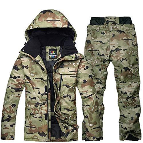 Qiyun Giacca da Sci Termica,Tuta da Sci Impermeabile Pantaloni + Giacca Set Sport Invernali Vestiti...