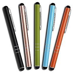 Kaufen 5 Stück Premium Eingabestift Touchstift Stylus Pen für iphone 8 7 7s 6 6s 5 6s 4 4s plus, ipad 5 4 3 Pro Mini Air, Samsung Galaxy Mate, Huawei Lite P10 P9 P8 P7 und alle Tablets Smartphones, Farbe: schwarz gold grün blau orange